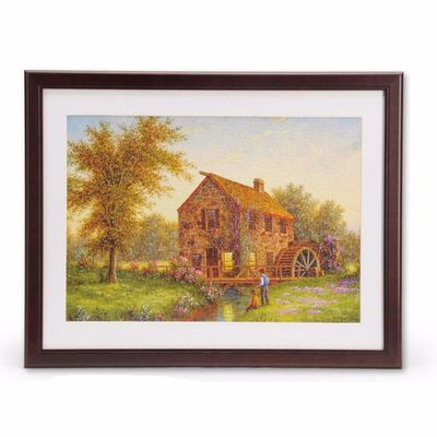 "350 or 500 Piece Jigsaw Puzzle Wooden Frame 18"" x 23.5"""