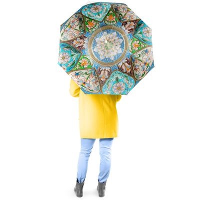 Timeless Turquoise Full Size Umbrella w/ Auto Extend