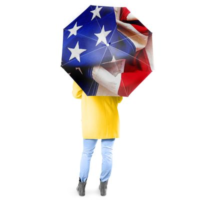 Patriotic Full Size Umbrella w/ Auto Extend