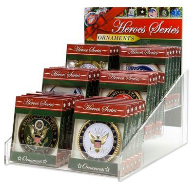 Heroes Series Ornament Display