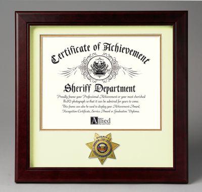 12X12 WHT ACH SHERIFF FRAME