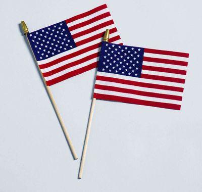 American Handheld Stick Flag - No Fray US Flag 12x18