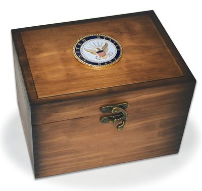 Navy Medallion Keepsake Box
