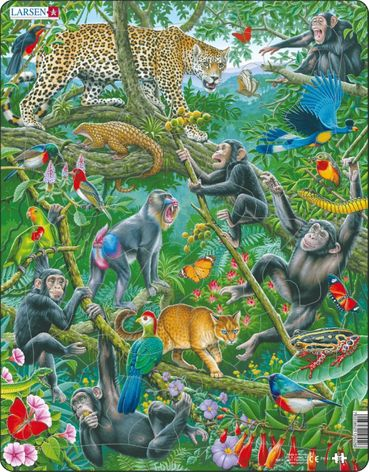 Jungle Life Children's Educational 32 Piece Jigsaw Puzzle