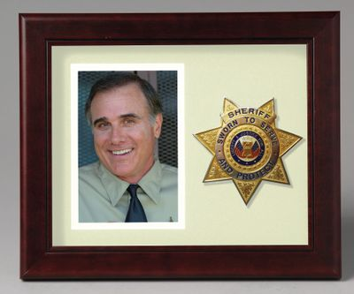 8X10 MAH HRZ SHERIFF FRAME