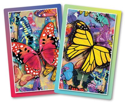 Butterfly Frenzy Jumbo Print Index Playing Cards