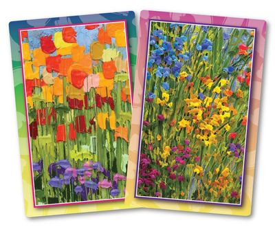 Flourishing Flowers Standard Index Playing Cards