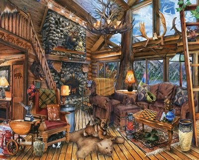 The Hunting Lodge 1000 Piece Jigsaw Puzzle