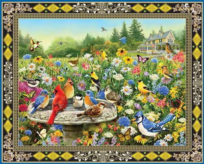 Birds & Butterflies 1000 Piece Jigsaw Puzzle