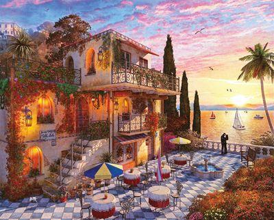 Mediterranean Romance 1000 Piece Jigsaw Puzzle