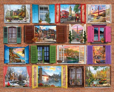 Windows to the World 1000 Piece Jigsaw Puzzle