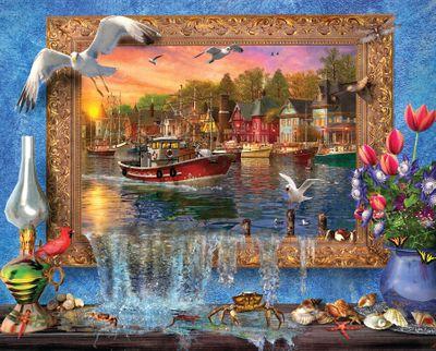 Seaside Harbor 1000 Piece Jigsaw Puzzle