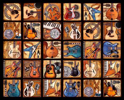 Six String Symphony 2000 Piece Jigsaw Puzzle