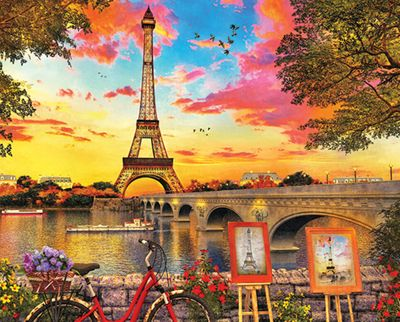 Paris Sunset 350 Piece Jigsaw Puzzle