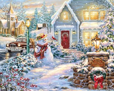 Silent Night Lane 1000 Piece Jigsaw Puzzle