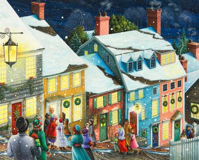Christmas Carolers 1000 Puzzle