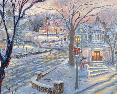 Cold Winters Night 1000 Piece Jigsaw Puzzle