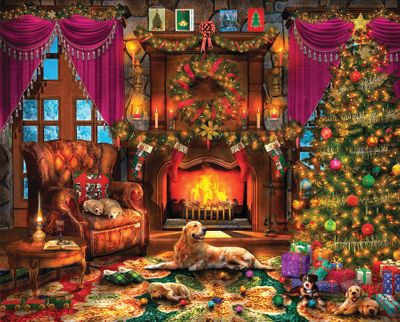 Cozy Christmas 1000 Jigsaw