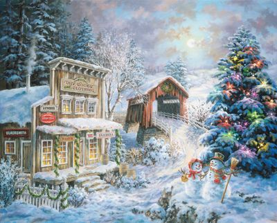 Country Christmas Store 1000 Piece Jigsaw Puzzle