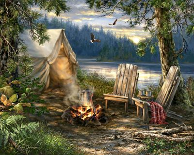 Evening at the Lake 500 Jigsaw Puzzle