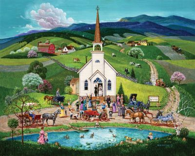 Spring Wedding 1000 Piece Jigsaw Puzzle