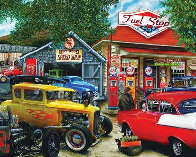 Back in Stock! Hot Rod Cafe 1000 Piece Jigsaw Puzzle