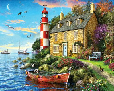 Back in Stock! The Cottage Lighthouse 1000 Piece Jigsaw Puzzle