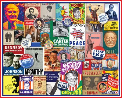 New! Poster Politics 1000 Piece Jigsaw Puzzle