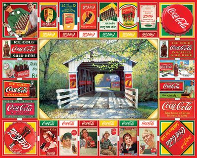 Coca-Cola Gameboard 1000 Piece Jigsaw Puzzle