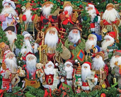 Santa Collection 1000 Piece Jigsaw Puzzle