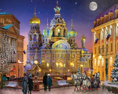 Russian Christmas 1000 Piece Jigsaw Puzzle
