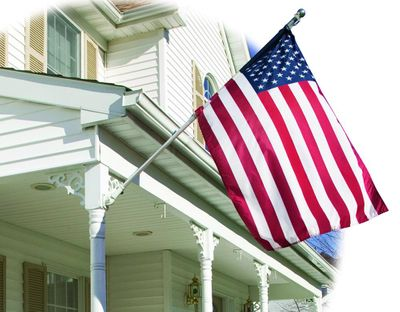 U.S. Embroidered Banner Flag - 3' x 5' - Nylon