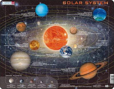 Solar System Children's Educational 70 Piece Jigsaw Puzzle
