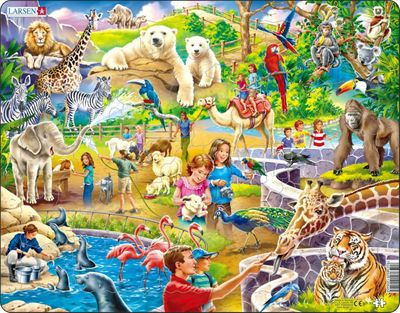 Zoo Animals 48 Piece Children's Jigsaw Puzzle