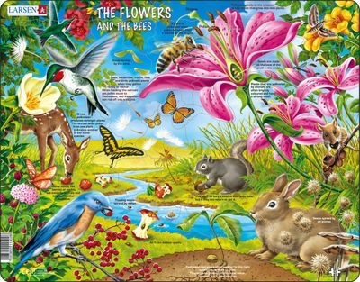 Flowers and Bees 55 Piece Children's Jigsaw Puzzle