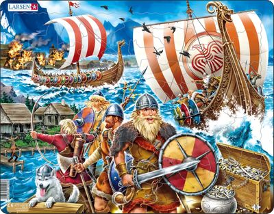 Viking Raid Children's Educational 70 Piece Jigsaw Puzzle