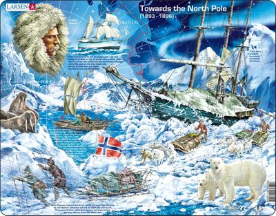 Towards the North Pole Educational  65 Piece Jigsaw Puzzle