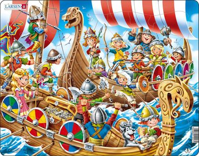 Vikings Children's Educational 30 Piece Jigsaw Puzzle