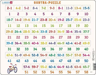 Learning Addition Educational 58 Piece Jigsaw Puzzle