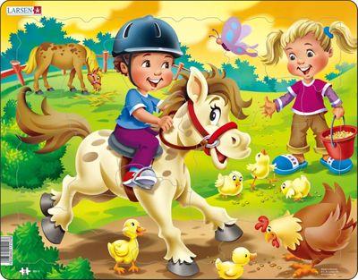 Horses Children's Educational 65 Piece Jigsaw Puzzle