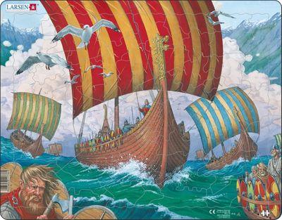 Viking Ship Children's Educational 64 Piece Jigsaw Puzzle
