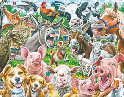 Happy Farm 33 Piece Children's Educational Jigsaw Puzzle