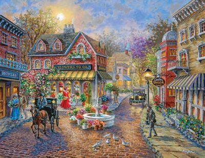 Cobblestone Village 350 Piece Jigsaw Puzzle