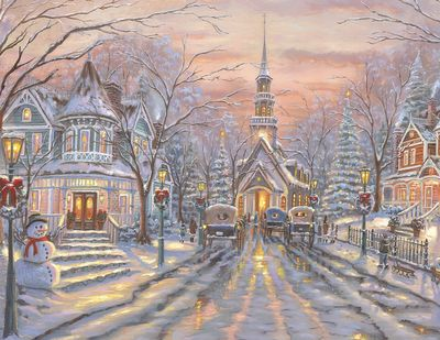White Christmas 500 Piece Jigsaw Puzzle