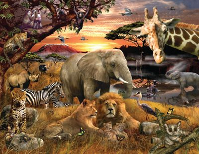 Wild Savanna 400 Piece Jigsaw Puzzle