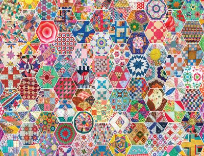 Back in Stock! Crazy Quilts 500 Piece Jigsaw Puzzle