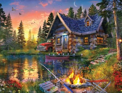 Back in Stock! Sun Kissed Cabin 500 Piece Jigsaw Puzzle