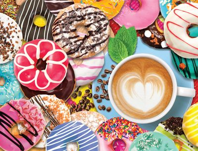 Back in Stock! Donuts N' Coffee 500 Piece Jigsaw Puzzle