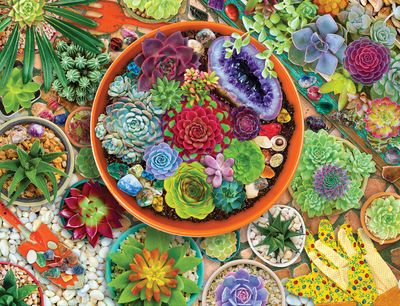 Succulent Garden 500 Piece Jigsaw Puzzle