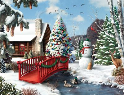 Winter's Home 500 Piece Puzzle